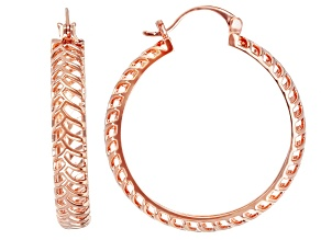 Copper Hoop Open Design Earrings