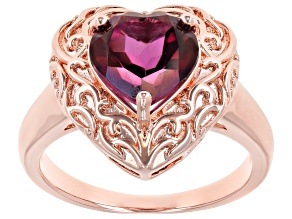 Unchanging™ Quartz Copper Heart Ring 2.92ct