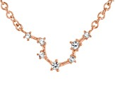 White Topaz Copper Aquarius Necklace 0.14ctw