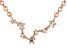 White Topaz Copper Pisces Necklace 0.16ctw