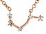 White Topaz Copper Aries Necklace 0.11ctw