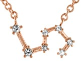 White Topaz Copper Leo Necklace 0.14ctw