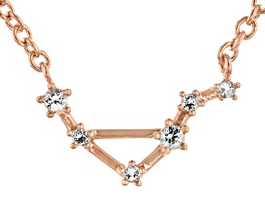 White Topaz Copper Libra Necklace 0.12ctw