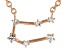 White Topaz Copper Gemini Necklace 0.14ctw