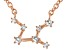 White Topaz Copper Virgo Necklace 0.17ctw