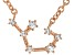 White Topaz Copper Sagittarius Necklace 0.14ctw