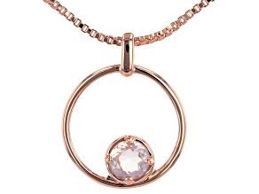 """Rose Quartz Copper Birthstone Pendant With 18"""" Chain 0.68ct"""