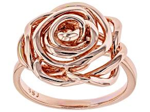 Copper Rose Shape Ring