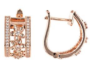 Cubic Zirconia Copper Earrings 2.49ctw
