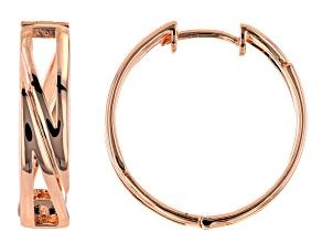Copper Open Design Hoop Earrings
