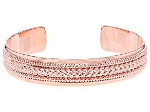 Copper Textured Men's Cuff Bracelet