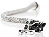 Black spinel rhodium over silver bracelet 1.66ctw