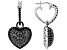 Black Spinel Rhodium Over Sterling Silver Earrings 3.95ctw