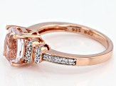 Pink kunzite 18k rose gold over silver ring 2.23ctw