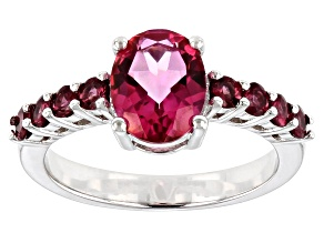 Pink topaz rhodium over sterling silver ring 2.30ctw