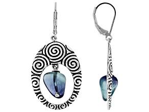 Multi-Color Fluorite Sterling Silver Earrings