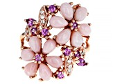Pink Opal 18k Rose Gold Over Sterling Silver Ring .58ctw