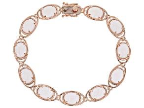 Pink quartz 18k rose gold over sterling silver bracelet