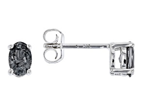 Platinum Color Spinel rhodium over sterling silver earrings .78ctw