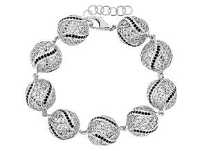 Black Spinel Sterling Silver Bracelet 5.79ctw