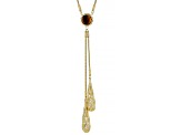 Brown Cognac 18k Yellow Gold Over Sterling Silver Necklace 2.50ct