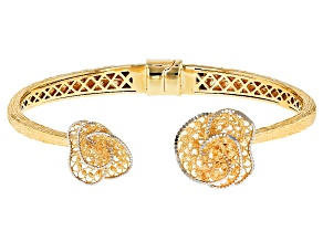 18k Yellow Gold Over Sterling Silver Bracelet