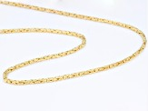 18K Yellow Gold Over Sterling Silver Byzantine Necklace