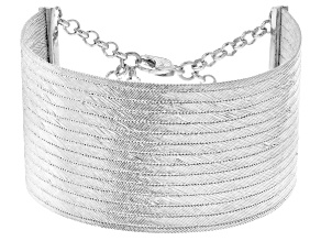 Traditional Trabzon Sterling Silver Hand Woven Bracelet