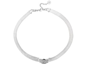Traditional Trabzon Sterling Silver Hand Woven Choker Necklace