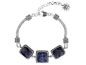 Blue Sapphire Sterling Silver Bracelet 5.00ctw