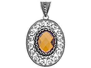 Orange Quartz Sterling Silver Pendant 9.00ct