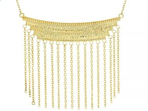 18K Yellow Gold Over Sterling Silver Statement Necklace