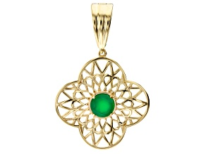Green Onyx 18K Yellow Gold Over Sterling Enhancer 1.90ctw