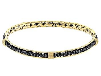 Picture of Black Spinel 18K Yellow Gold Over Sterling Silver Bracelet