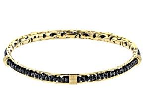 Black Spinel 18K Yellow Gold Over Sterling Silver Bracelet