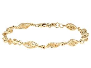 18K Gold Over Sterling Silver Petite Waves Bracelet