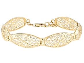 18K Gold Over Sterling Silver Filigree Bracelet
