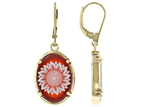 Artisan Collection Of Turkey™ Red Shell 14K Gold Over Sterling Silver Earrings