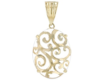 Picture of Quartz 18K Gold Over Silver Scroll-work Enhancer