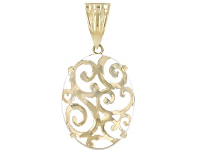 Quartz 18K Gold Over Silver Scroll-work Enhancer