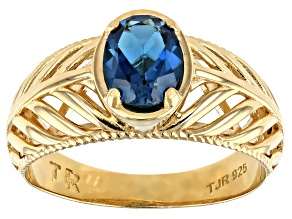 Topaz 18K Gold Over Sterling Silver Ring 0.60ct