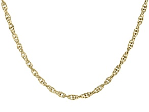 14K Gold Over Sterling Silver Rope Chain