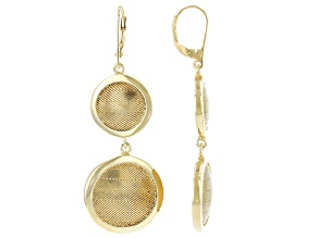 18K Gold Over Sterling Silver Wickerwork Design Earrings