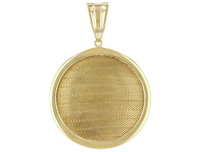 18K Gold Over Sterling Silver Wickerwork Design Pendant