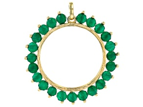 Green Onyx 18K Yellow Gold Over Sterling Silver Pendant