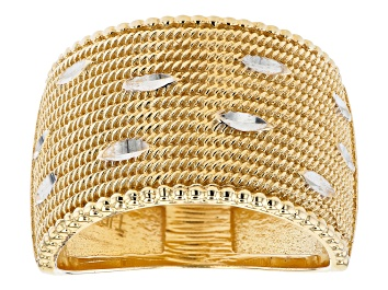 Picture of 18K Yellow Gold Over Sterling Silver Band Ring