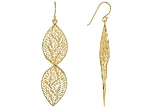 18K  Gold Over Silver Twisted  Earrings