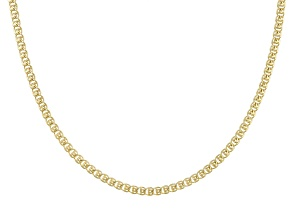"18K Gold Over Silver ""Love"" Chain"