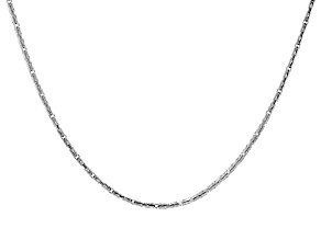 Platinum Plated Over Sterling Silver Byzantine Necklace