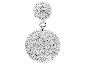 Platinum Over Sterling Silver Pendant